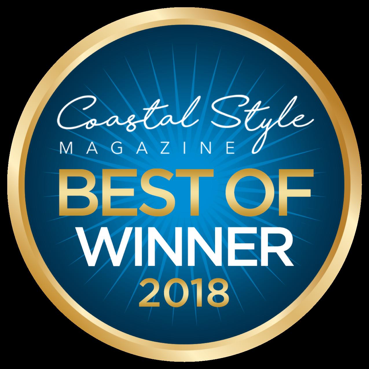 Coastal Style Magazine Best of Winner 2018 | Yoga Studio