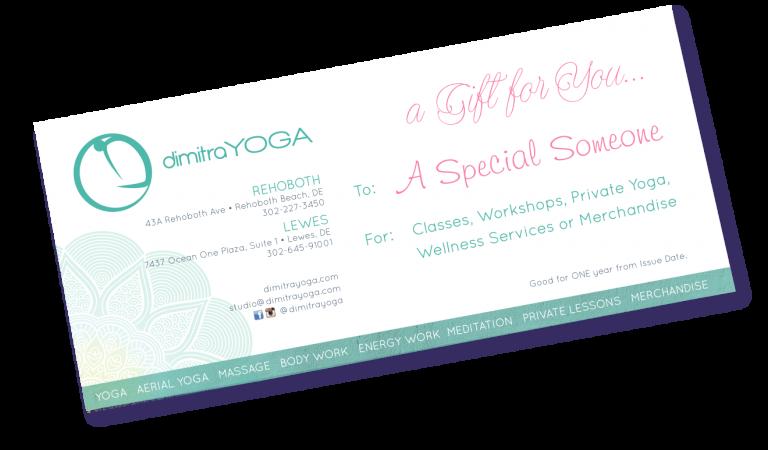 Dimitra Yoga Gift Certificate