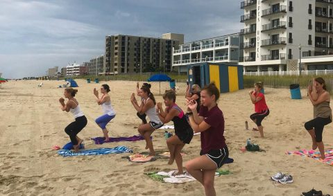Beach Yoga with Dimitra Yoga | Lewes & Rehoboth Beach DE